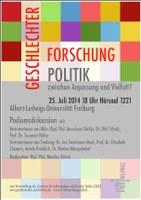 Podiumsdiskussion zu Geschlechterforschung und Geschlechterpolitik
